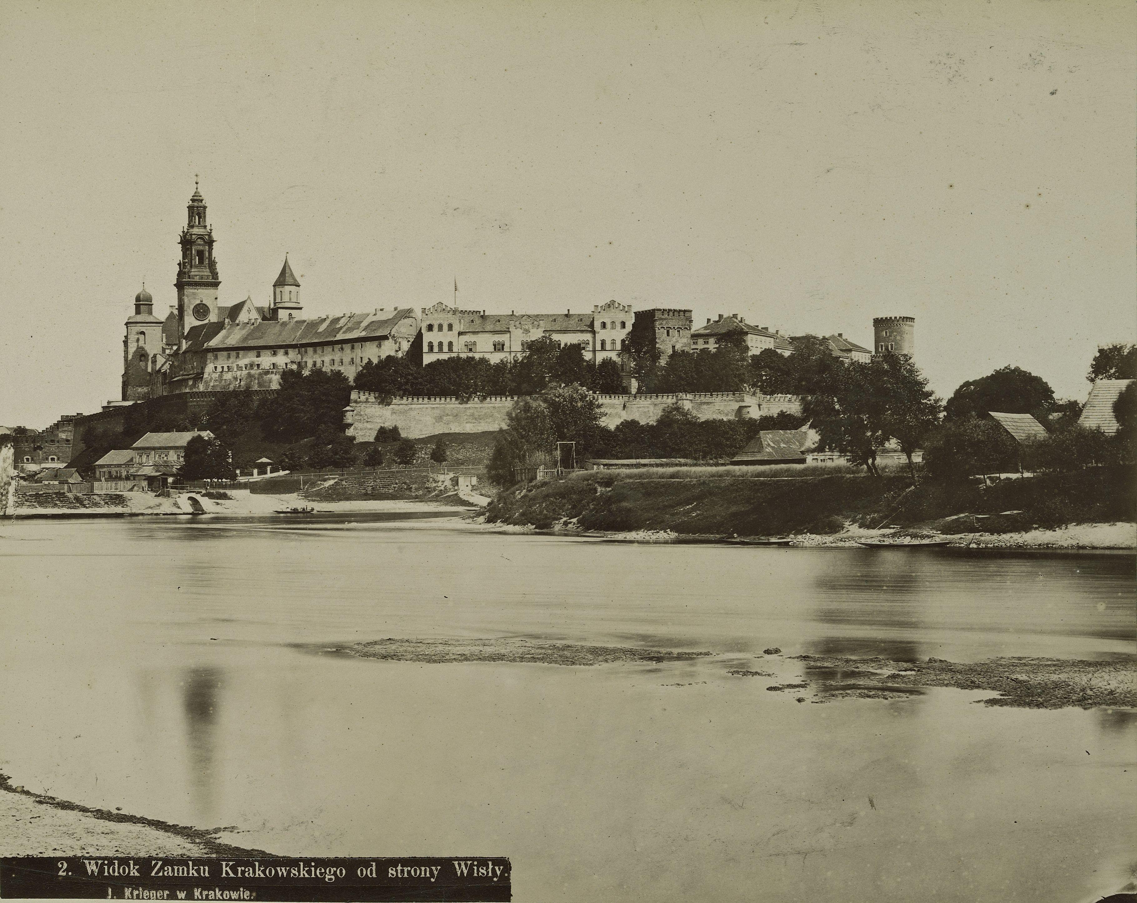 Австро-Венгрия. Краков. Вид замка с Вислы