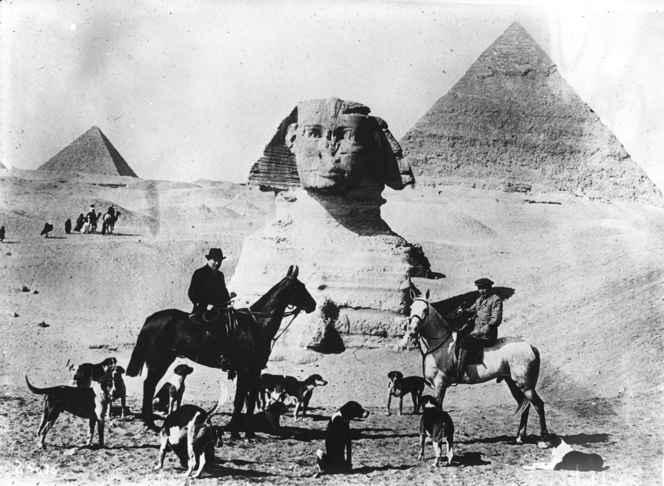 Гиза. Сфинкс и Пирамиды. 1912