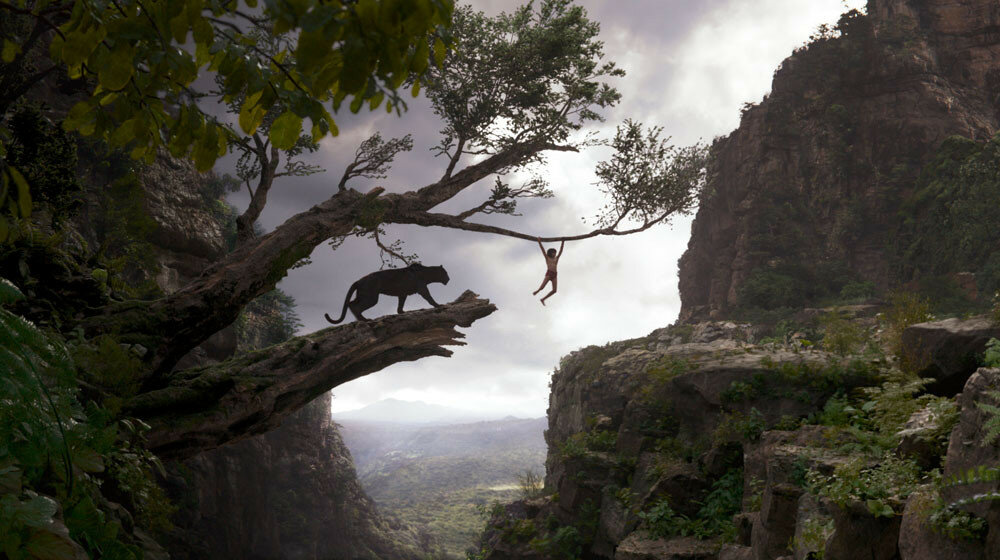 THE JUNGLE BOOK (Pictured) BAGHEERA and MOWGLI. ?2016 Disney Enterprises, Inc. All Rights Reserved.