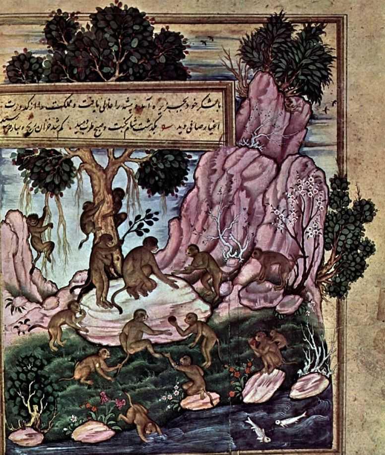 Анвар и-Сухайли Обезьяны, ок. 1570.jpg