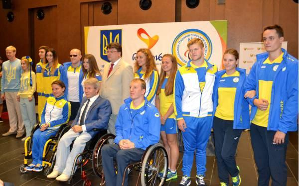 В Киеве представили национальную сборную Украины, которая примет участие в ХV летних Паралимпийских играх. ФОТОрепортаж