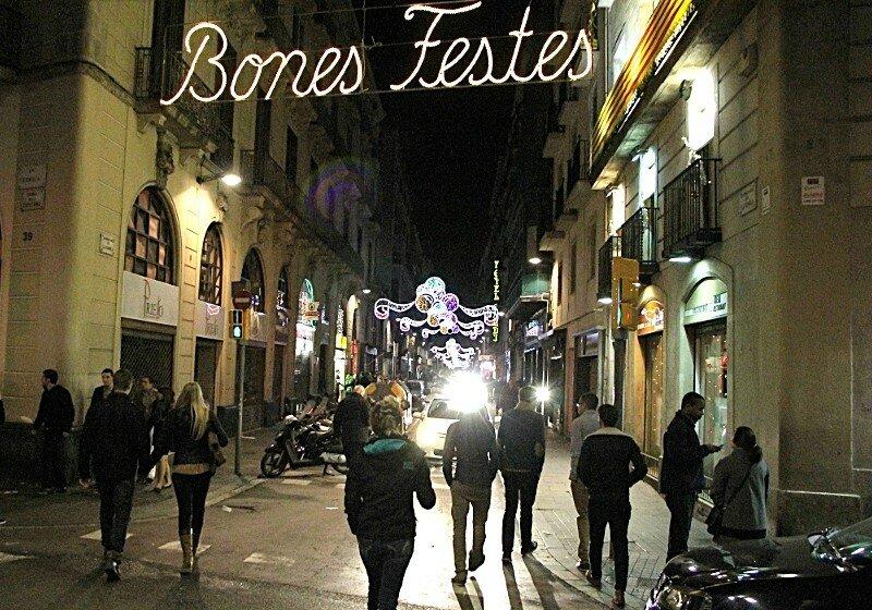 Barcelona. New year on the Ramblas