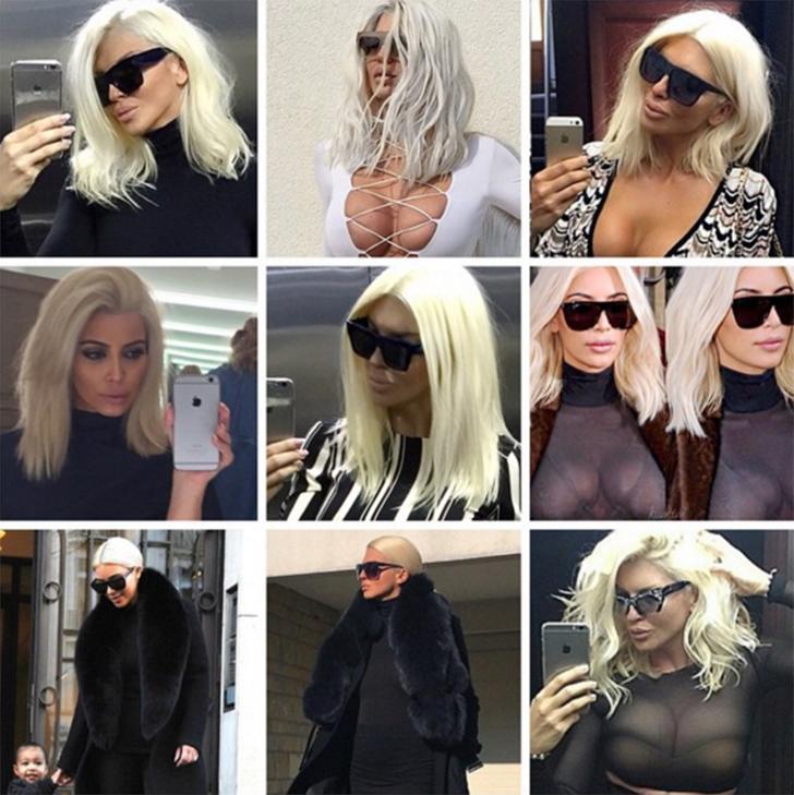 Здесь другой случай: есть подозрение, что это Ким Кардашьян копирует Елену, а не наоборот. Внезапное