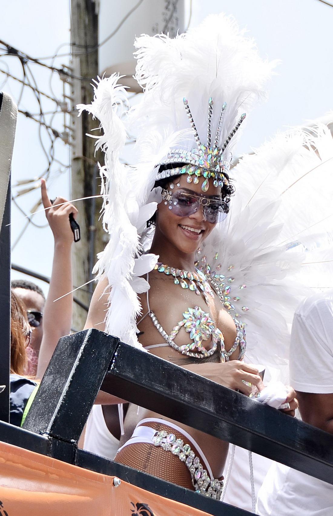 Rihanna at Barbados' Kadooment Day Parade