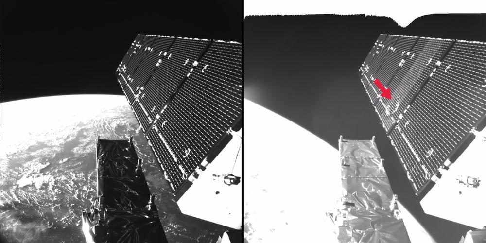 Европейский спутник Sentinel-1A под атакой космического мусора