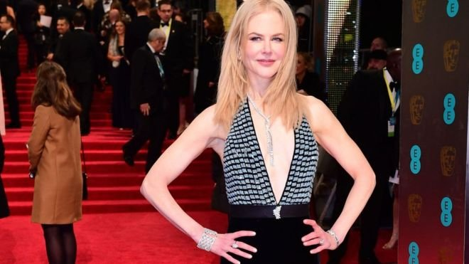 Наряд Николь Кидман поразила публику навручении английской награды BAFTA