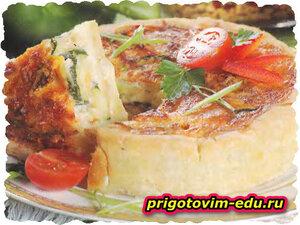 Овощной пирог с помидорами