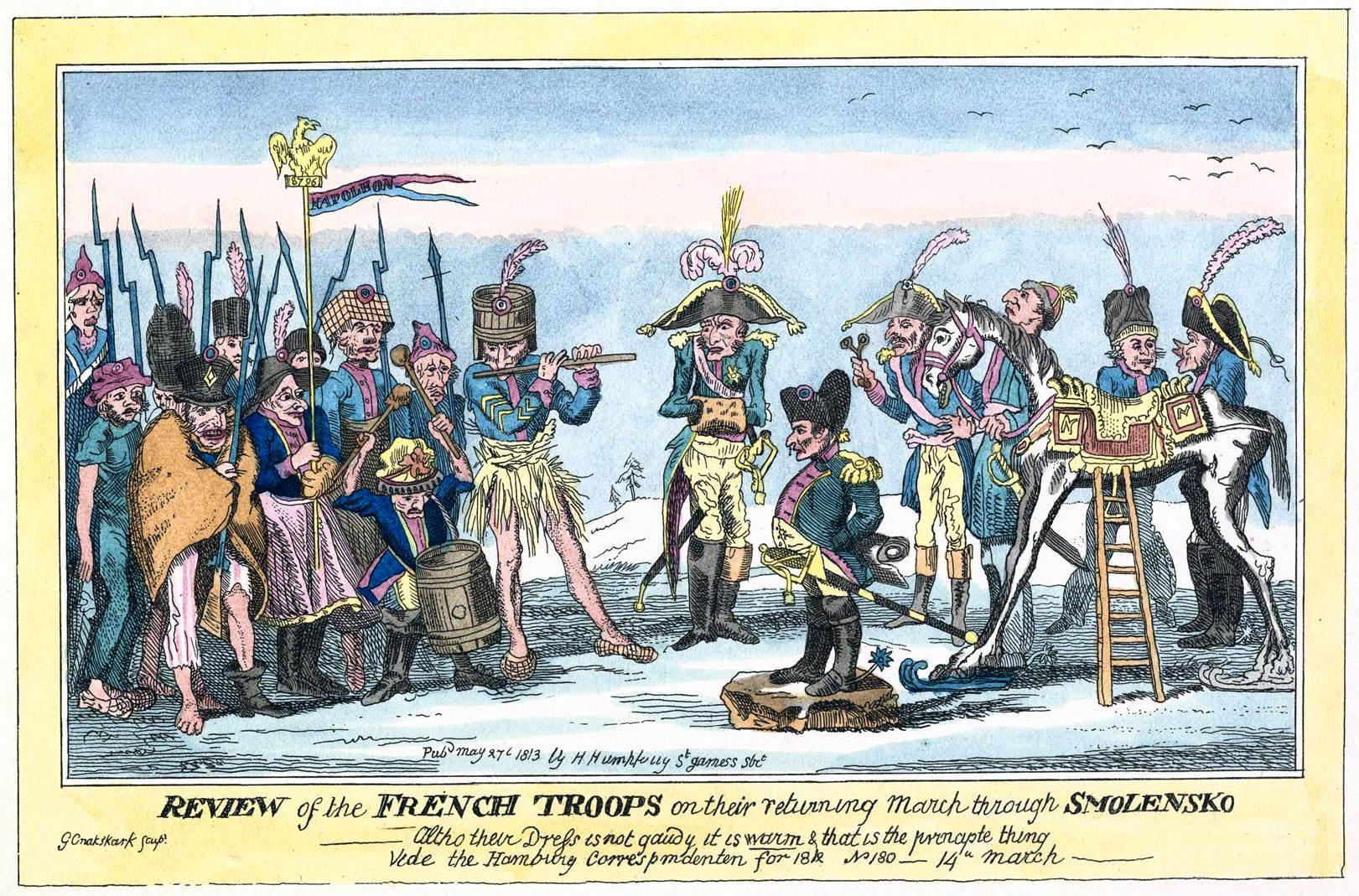 233. Смотр французским войскам на обратном пути из России