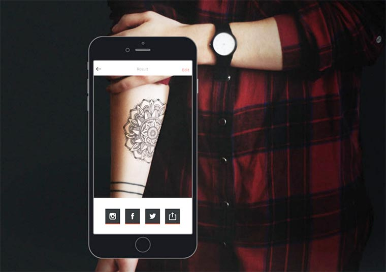 InkHunter - Try on your future tattoos with this clever smartphone app!