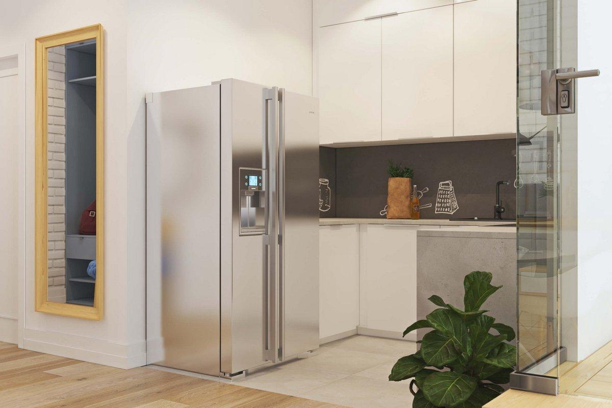 современная открытая кухня в квартире