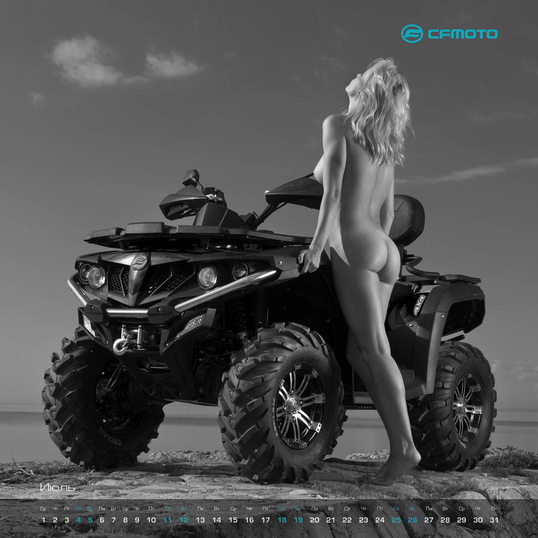 эротический календарь CFMoto на 2015 год - квадроциклы и мототехника