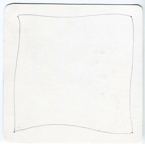 Создание плитки Зентангл, 2 этап -общий контур