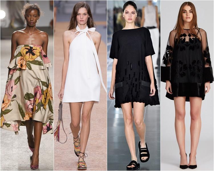 модный фасон платья 2016: платья трапеция