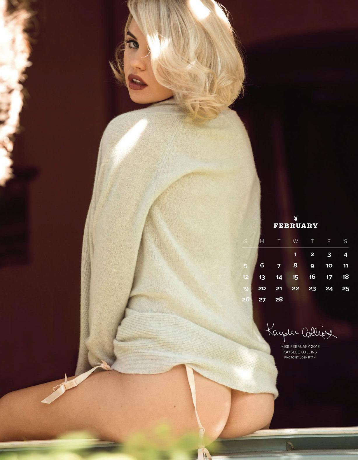Playboy US Playmates 2017 calendar - Miss February 2015 Kayslee Collins / Кейсли Коллинс – Девушка месяца февраль 2015 журнала Плейбой США