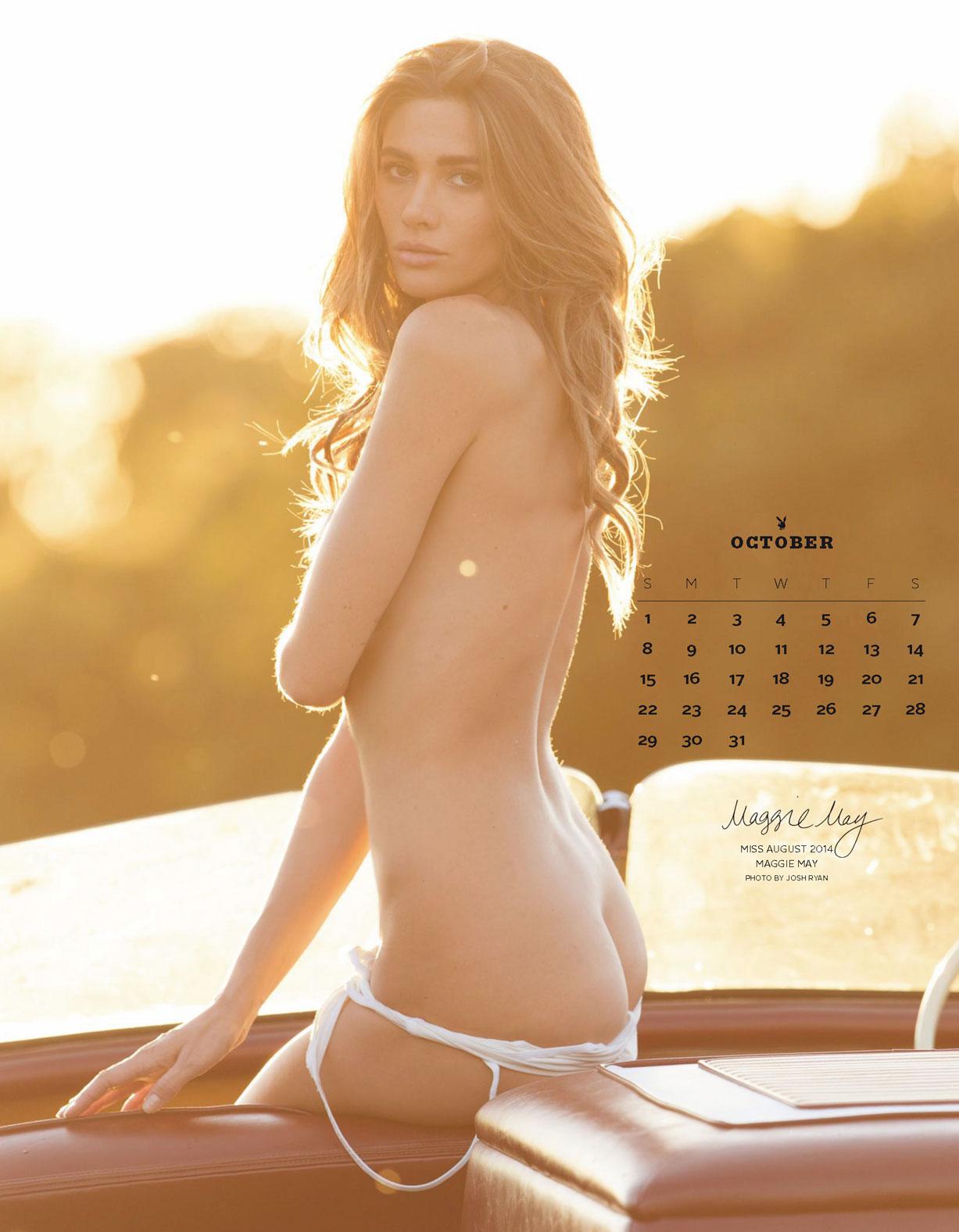Playboy US Playmates 2017 calendar - Miss August 2014 Maggie May / Мэгги Мэй – Девушка месяца август 2014 журнала Плейбой США