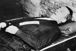 Эрнст Кальтенбруннер после исполнения приговора