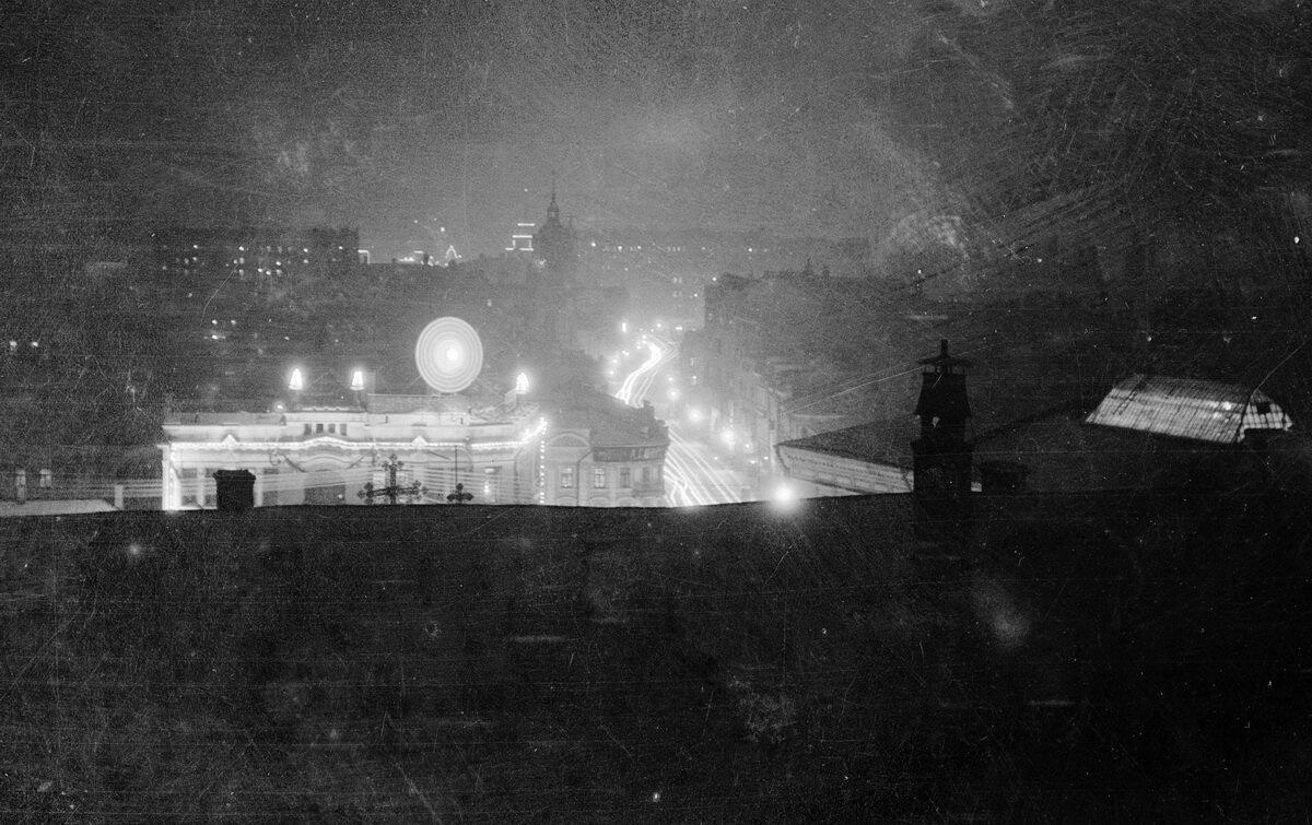 1926. Мясницкая ночью