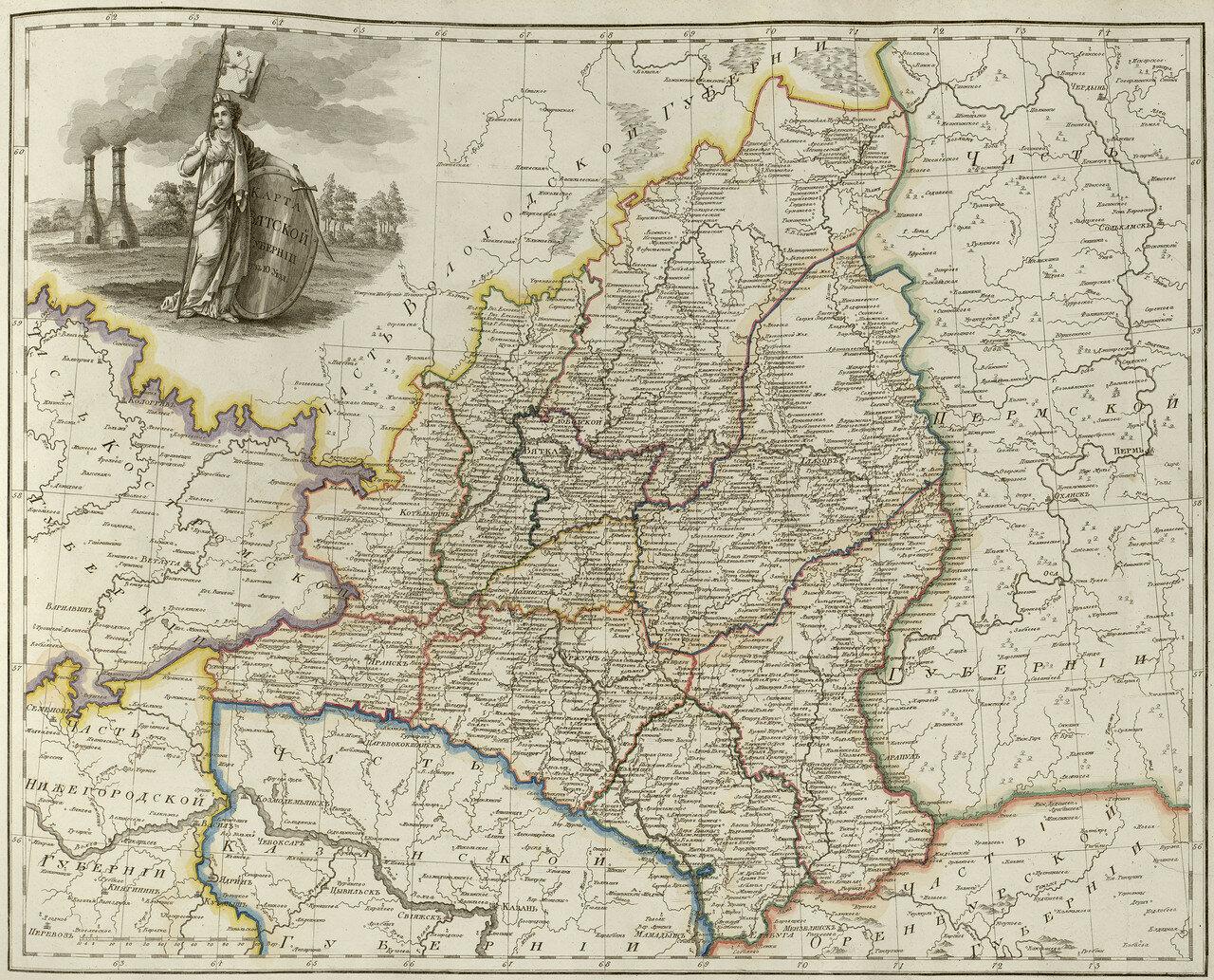 29. Карта Вятской губернии