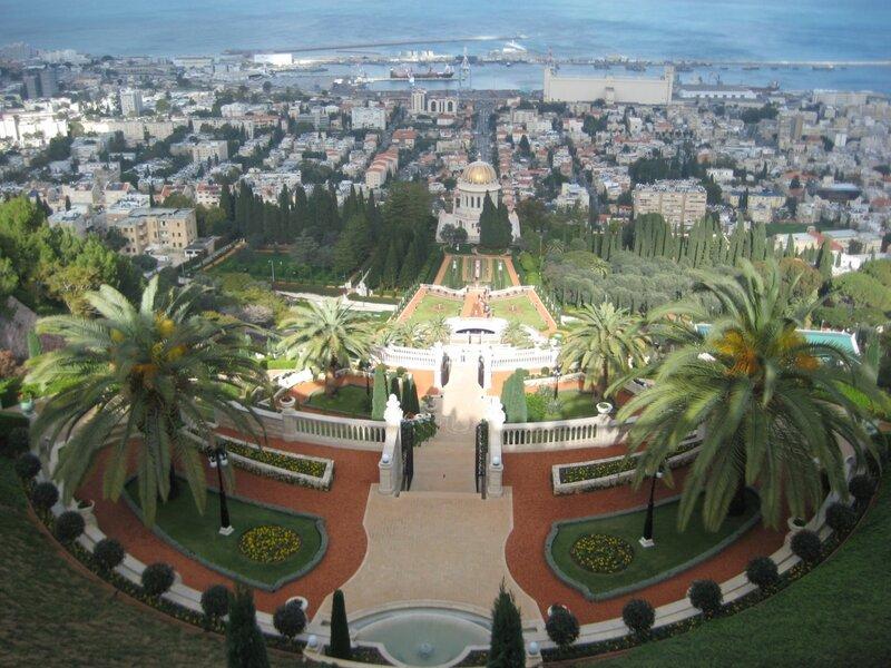 Любовь Лаврова, Путешествие в Израиль, Бахайские сады - панорама