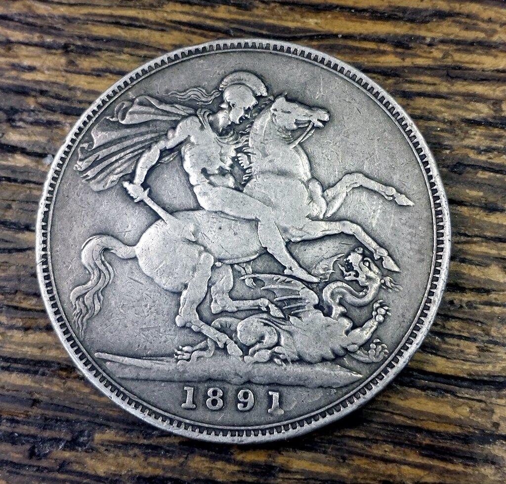 1891 British Crown reverse…St. George slaying the dragon.jpg