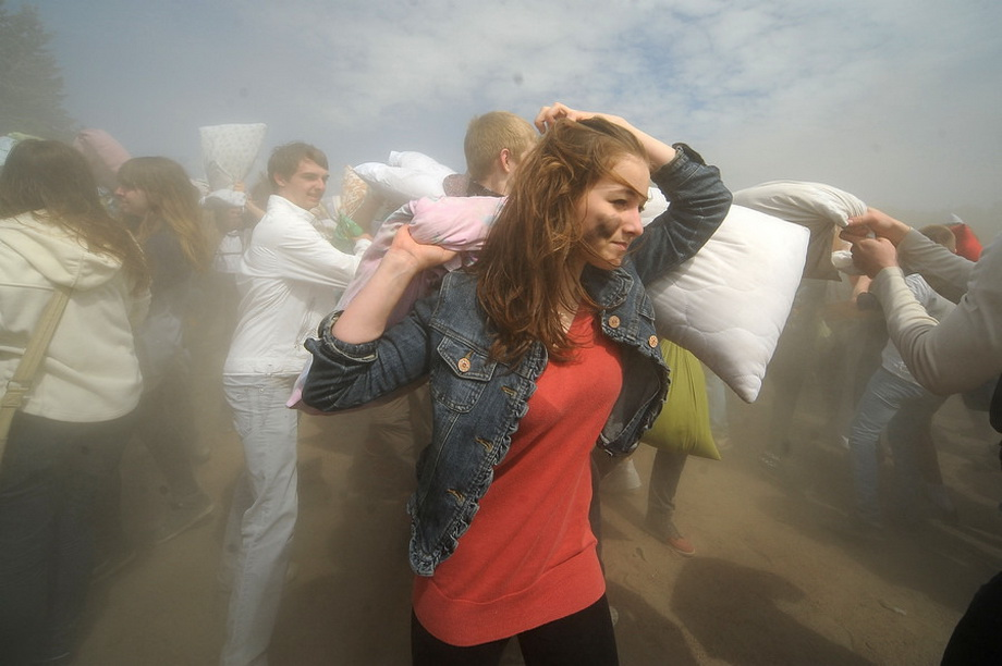 Pillow Fight in Saint-Petersburg 2013