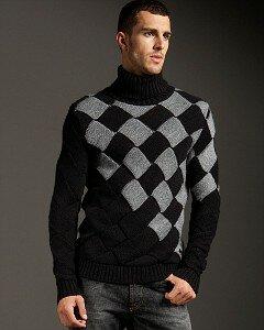 Энтерлак от Версаче-мужской свитер спицами Наши воплощения