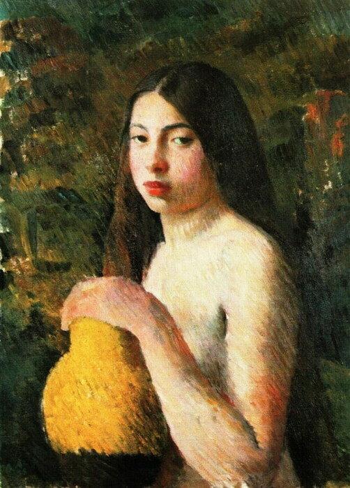 Девушка с кувшином, 1928 г. || Girl with a jug, 1928