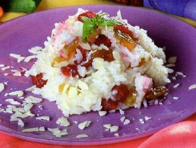 Рисовая каша с мёдом и сухофруктами