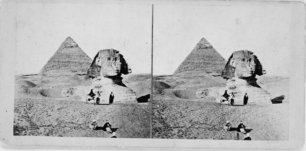 Гиза. Вторая пирамида и Сфинкс