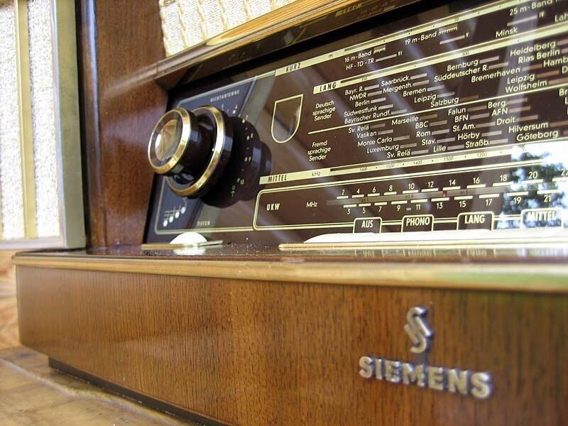реставрация приемников, ламповый Siemens
