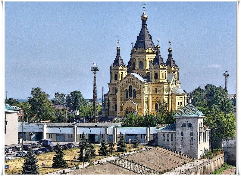 храм Александра Невского в Нижнем Новгороде на стрелке