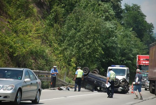 Авария но дороге в Сербии
