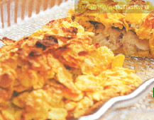 Филе трески в корочке из картофельных чипсов