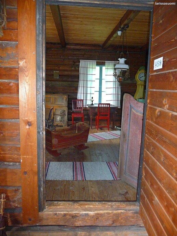 Спальня старинного финского хутора.