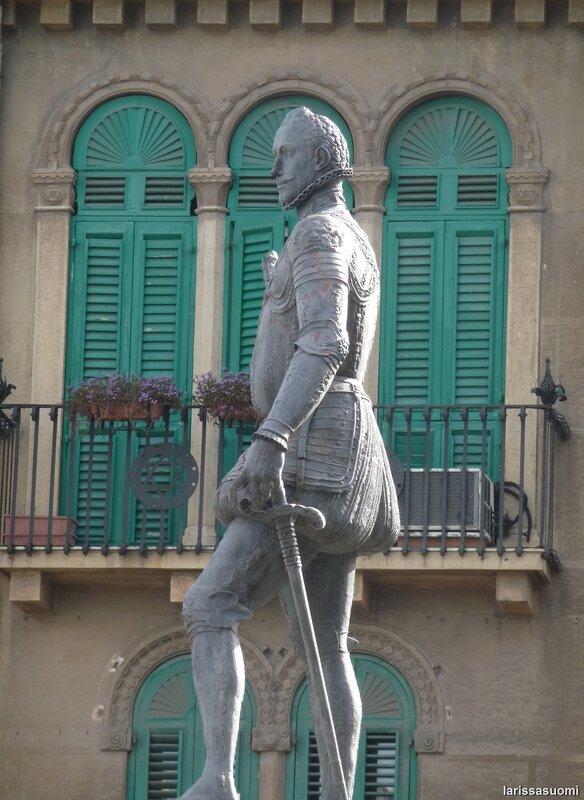 Памятник испанскому адмиралу.