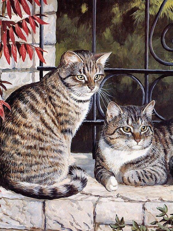 Скачать обои животные, полосатые кошки, Persis Clayton Weirs 800x600.