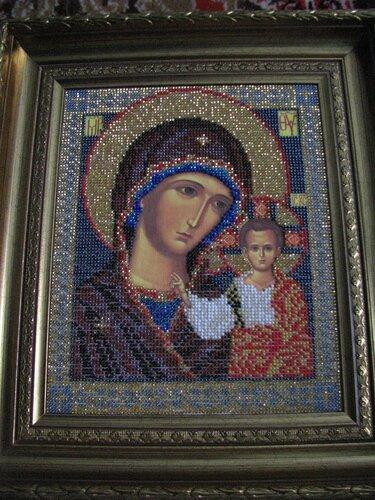 Кроше.  В-148.  Набор для вышивания бисером Икона.  Казанская Богородица.  Кроше.
