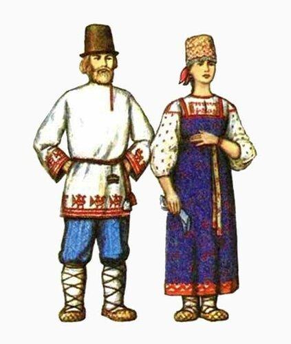 Русские народные костюмы в картинках мужские