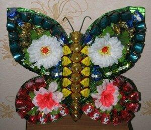 Бабочка из конфет своими руками фото 34