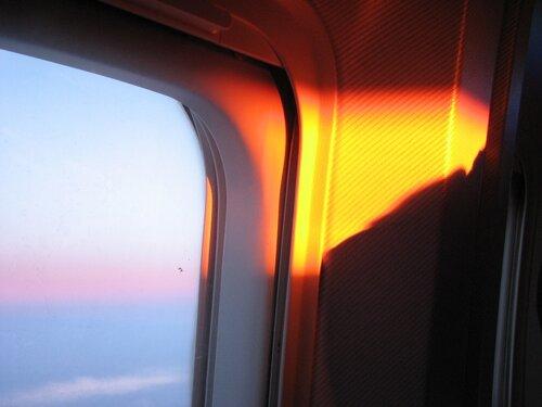 Закат в самолёте