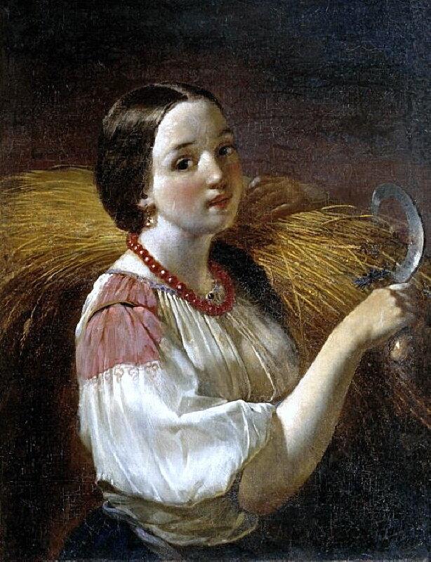 Алексей Максимов (1810-1865)     Девушка со снопом