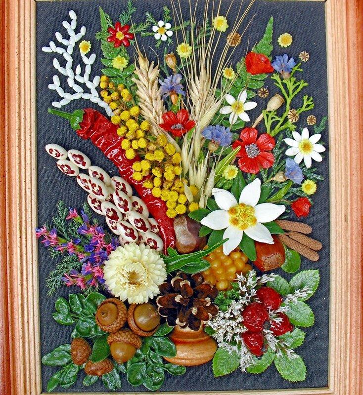 Картина своими руками из природного материала