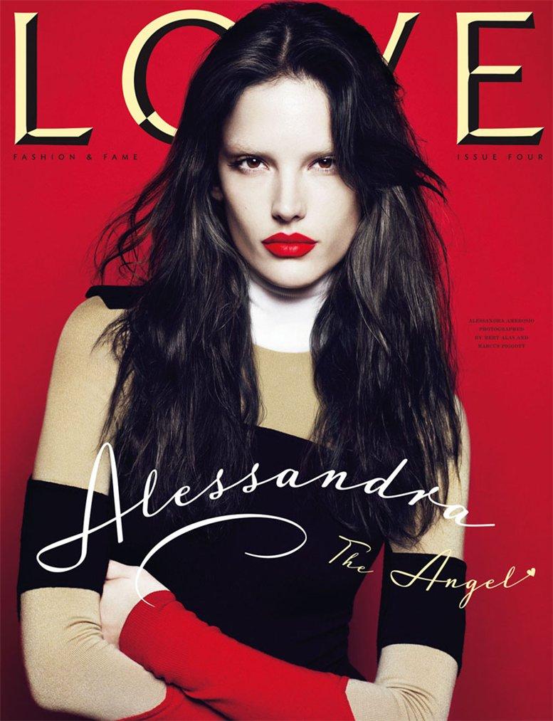 Love Magazine 4 covers by Mert Alas and Marcus Piggott - Alessandra Ambrosio