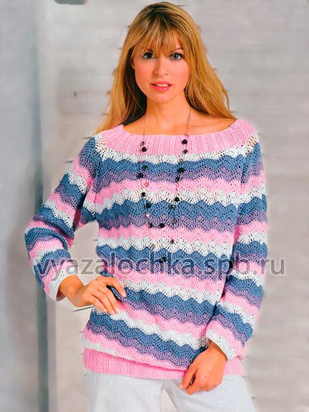 Пуловер из зигзагов