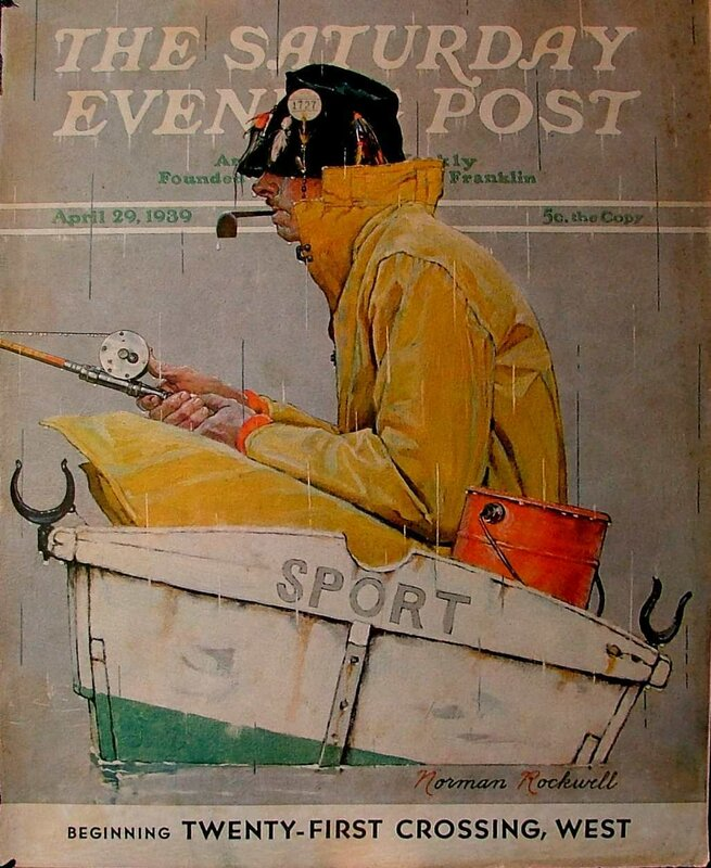 """Norman Rockwell Covers.Обложка журнала """"The Saturday Evening"""""""