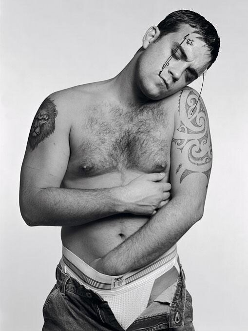 Robbie Williams.Photographer Michel Comt.