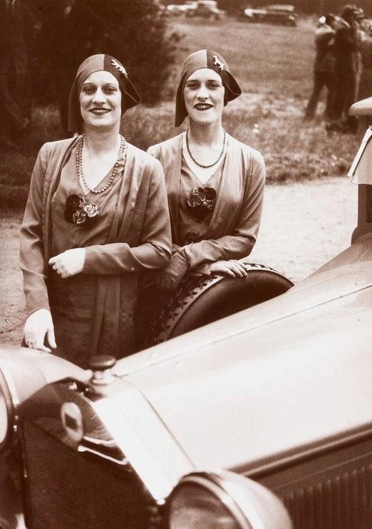 Photography by Jacques Henri Lartigue.Twins, 1929