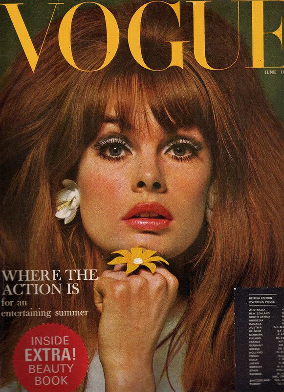 Vintage Vogue Fashion Magazine.Model:Jean Shrimpton.English Vogue,June 1965
