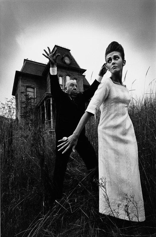 Жанлу Сьефф | Jeanloup Sieff.Alfred Hitchcock with Ina Balke