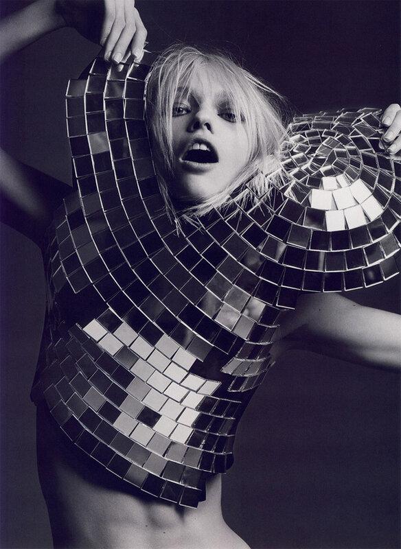 Anja Rubik by Hedi Slimane
